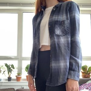 Urban outfitters small blue flannel